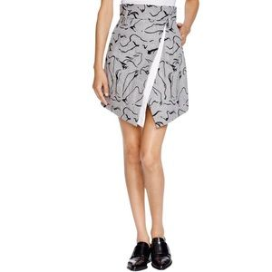 Misha Nonoo Jacqui Wool Gray Skirt Asymmetrical